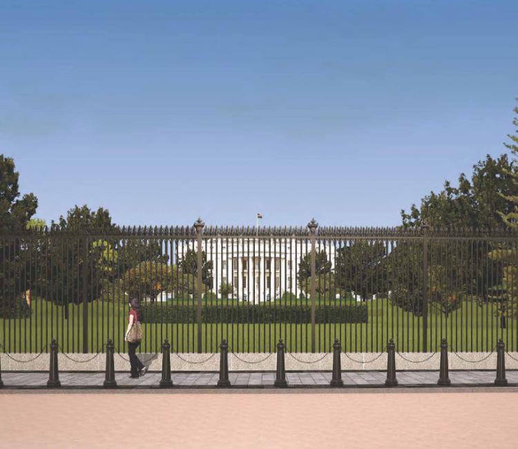 trådhegn til det hvide hus